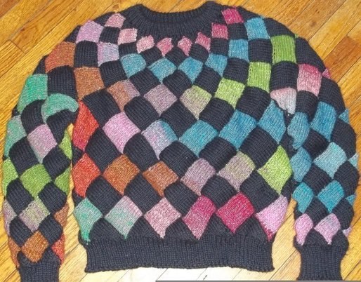 Entrelac Sweater